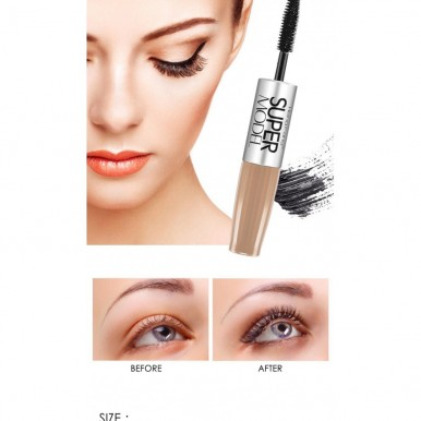 2 in 1 Mascara Waterproof for Girls - Pack of 3 Different Shades