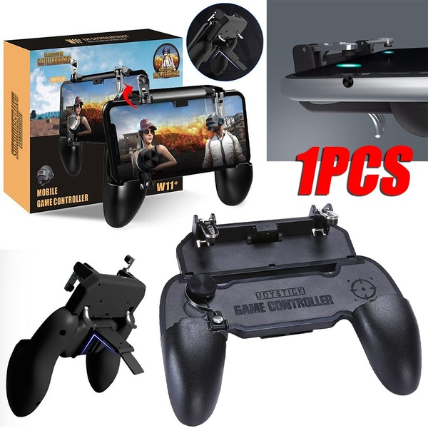 Mobile Game Controller W11 plus PUBG 2 Builtin Triggers and 1 Joystick for Call of Duty PUBG and Fortnite Mobile Games - 1 Piece