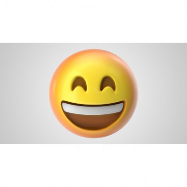 Emoji Smiling Face Wall stickers-4 Pieces