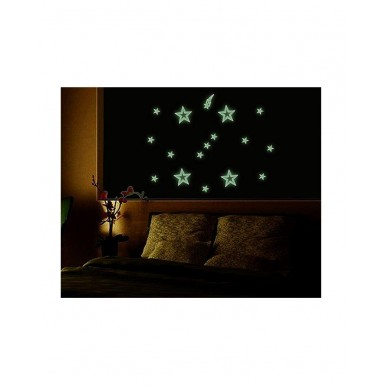 3D Stars Glow in Darkness for Decoration of Kids Room Wall and Ceiling - Pack of 50 Pieces