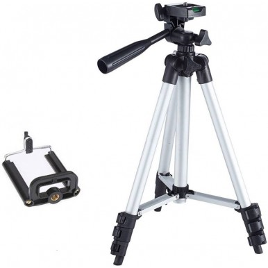 3110 Tripod Stand for Mobile and Camera for Making Videos - 1 Tripod in Box