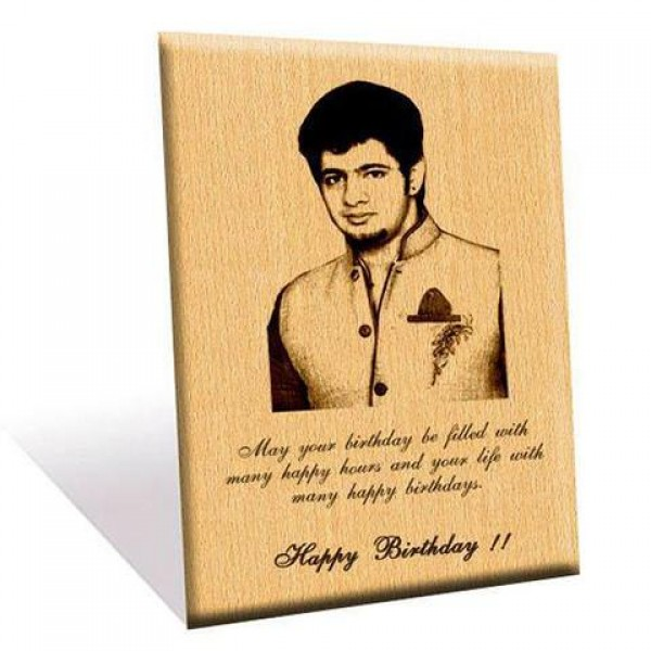 Personalized Picture and Text wooden frame