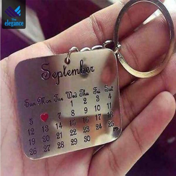 Customized Calendar Keychain