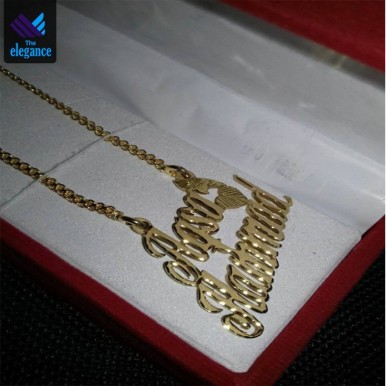 Customized Golden Necklace with Name Gold Plated