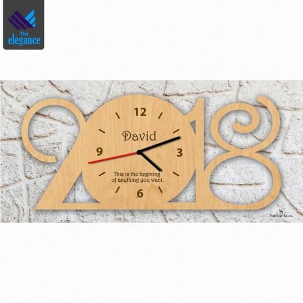 Customized Wooden Year Clock