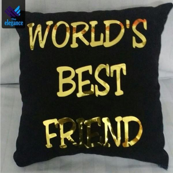 Customized Foil Cushion- World's Best Friend Cushion
