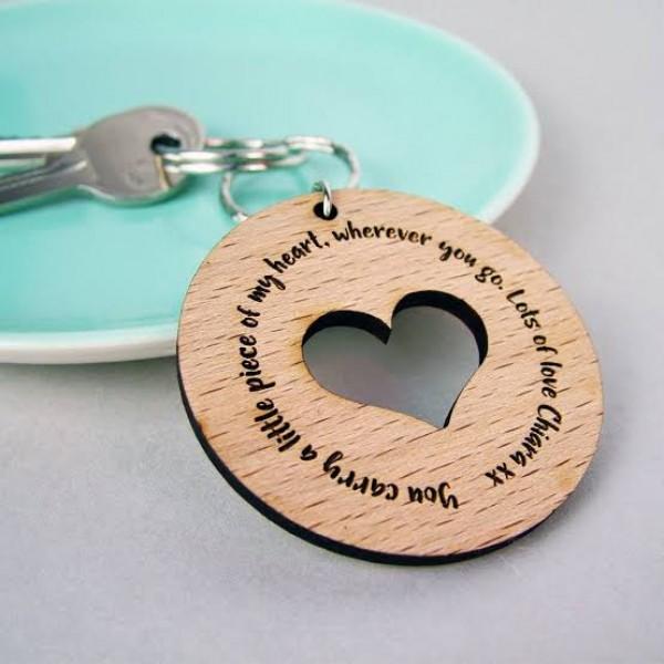 Heart Message Keychain