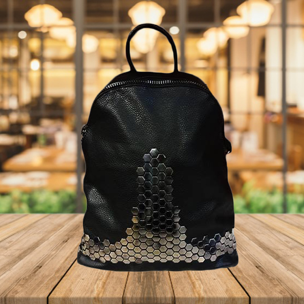 High Quality Imported Black Leather Bag