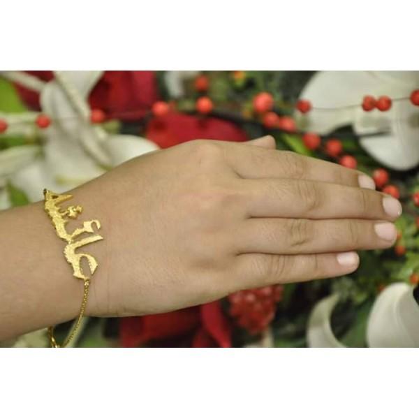 Customized Gold Plated Name Bracelet
