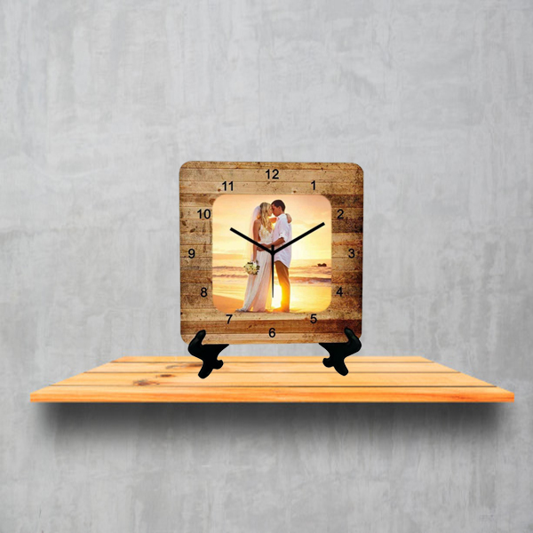 Customized Wooden Table Clock
