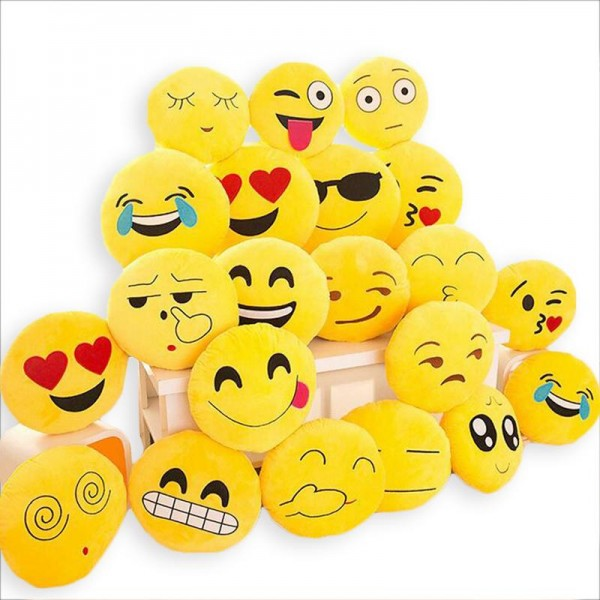 Pack of one Emoji pillow