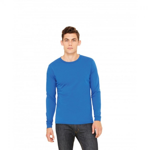 Full Sleeves Tshirt in Round-neck-Blue color