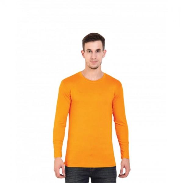 Full Sleeves Round-neck-Orange Tshirt