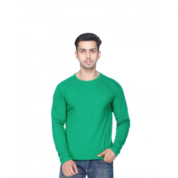 T-shirt Full Sleeve Round neck in Green