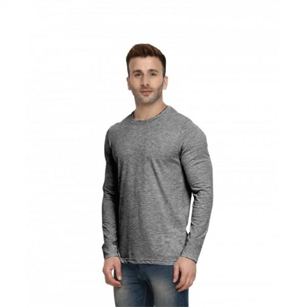 Full Sleeves Round neck Dark Grey Color Tshirt for Men