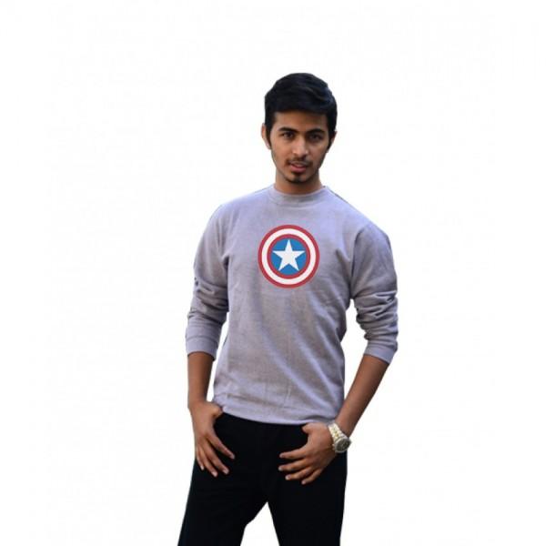 Captain America Sweatshirt - Grey