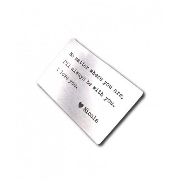 Customized Metal Wallet Card