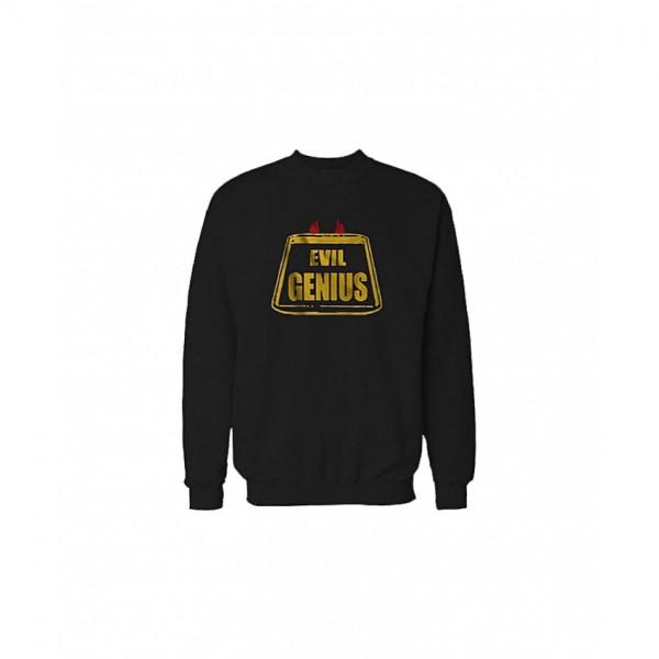 Stylish Evil Genius Sweatshirt in Black Color