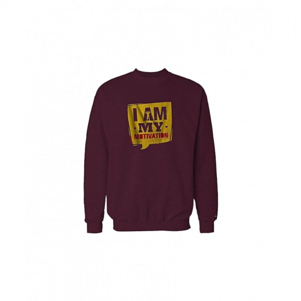 I am My Motivation Sweatshirt in Maroon Color