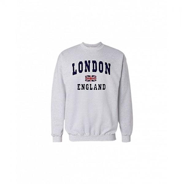 London England Printed Sweatshirt in Grey Color