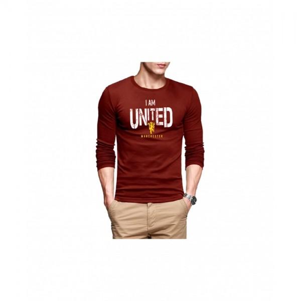 Full Sleeves roundneck Tshirt-Maroon