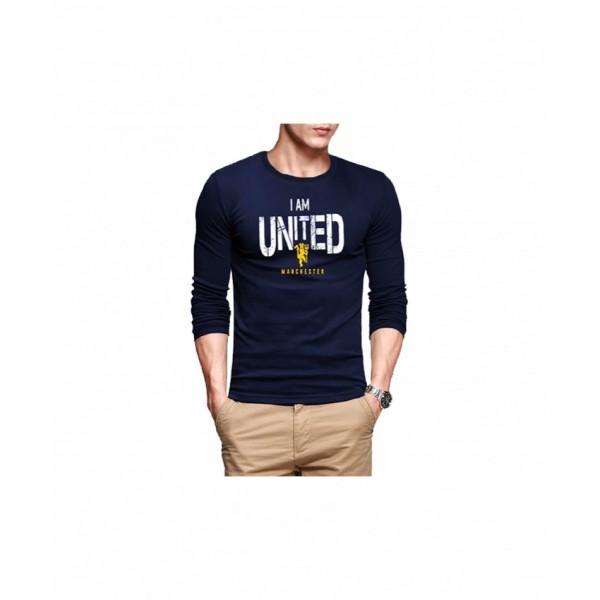Full Sleeves Roundneck Tshirt Navy-Blue