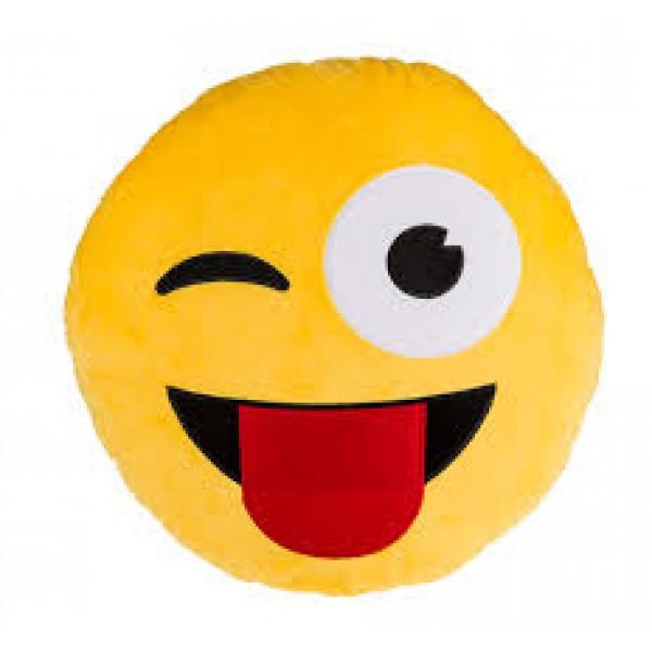 Tongue Out Pillow - Emoji Cushion