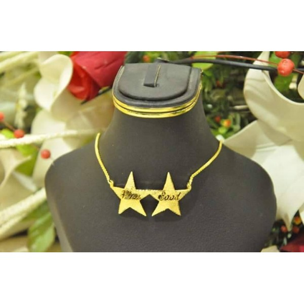 Customized Gold Star Name Necklace