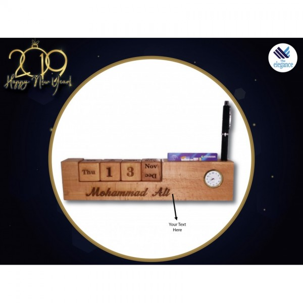 wooden Table Calendar - Customised Table Oragniser and Calender