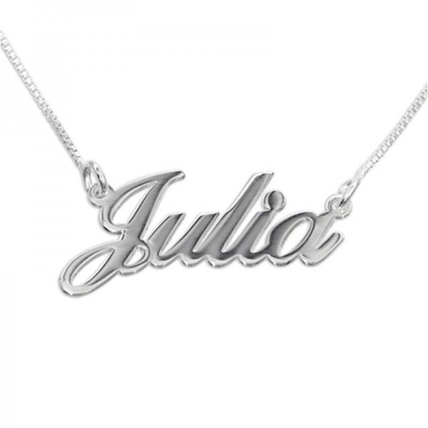 Customized Silver Name Pendant