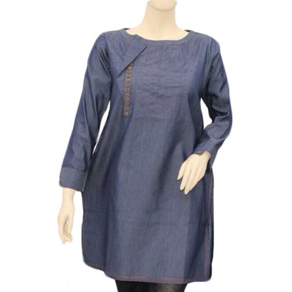 Blue Denim Kurti For Women