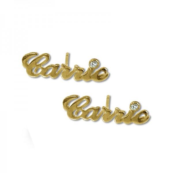 Personalised Earrings in Golden Color