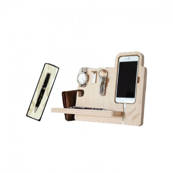 Docking Station with Personalized Name Pen