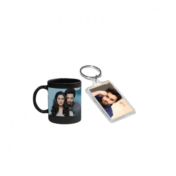 Gift Set of Magic Mug and Picture Key-chain