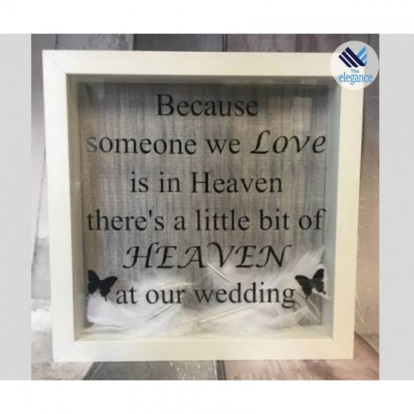 Personalized 3D Frame with message - best gift for loved ones