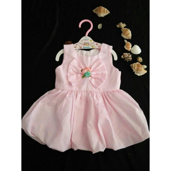 Pink Fairy Frock for Girls With Mix Material