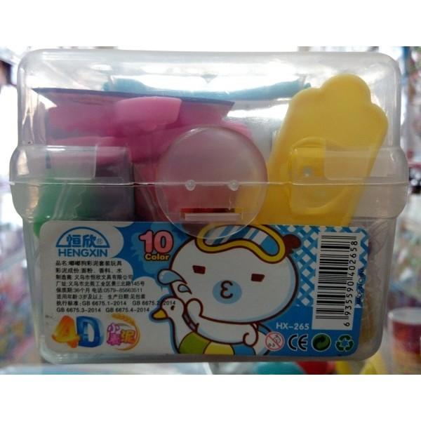 10-Colour Play Dough Mini Set for Kids