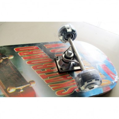 Wooden Skate Board - Large with light in wheels