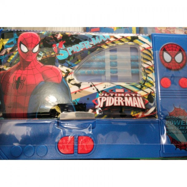Large Button Spiderman fancy pencil box for kids