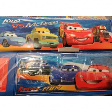 Large Button Cars fancy pencil box with calculator for kids