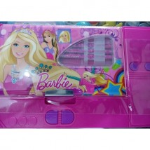 Large Button Barbie fancy pencil box for kids