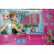 Large Button Frozen fancy pencil box for kids