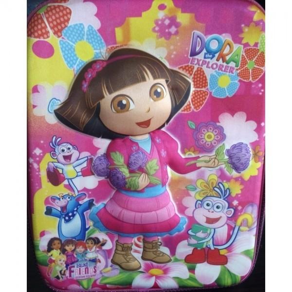 Dora 3D-Cartoon Character School Bag - small size for montessori kindergarten level