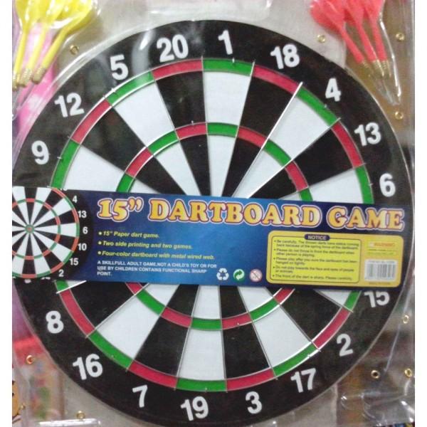 Baili 15 inches medium hard board dart game for kids