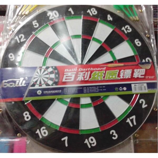 Baili 17 inches large hard board dart game for kids