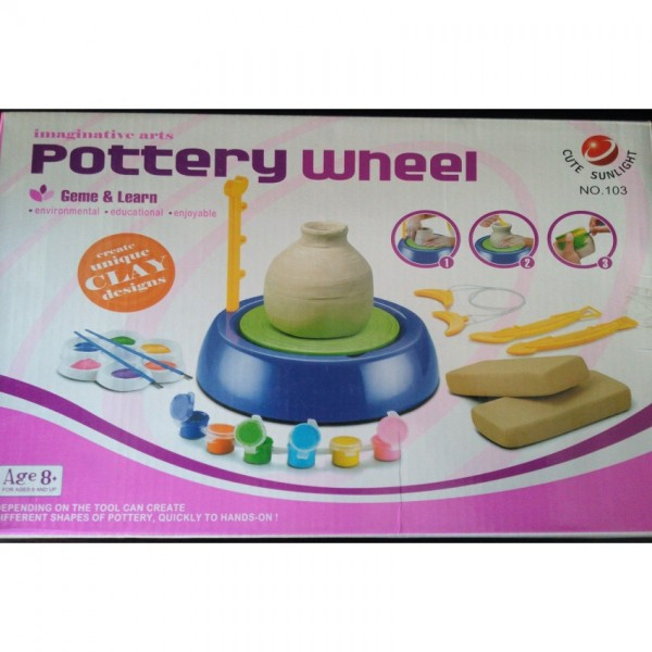 Attractive and Learning Pottery Wheel for Kids