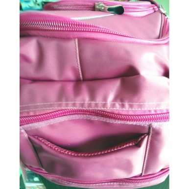 Fastrack Pink and Purple Super Quality Fabric School Bag