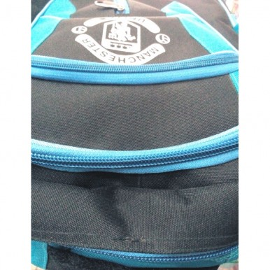 Manchester United High Quality Blue and Black Fabric School Bag