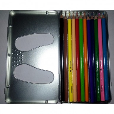Maped Color Peps - 12 Colour Pencils - Metal Casing