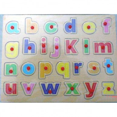 Wooden Learning Urdu/Counting (1-20) English (Small and Capital with pictures) blocks